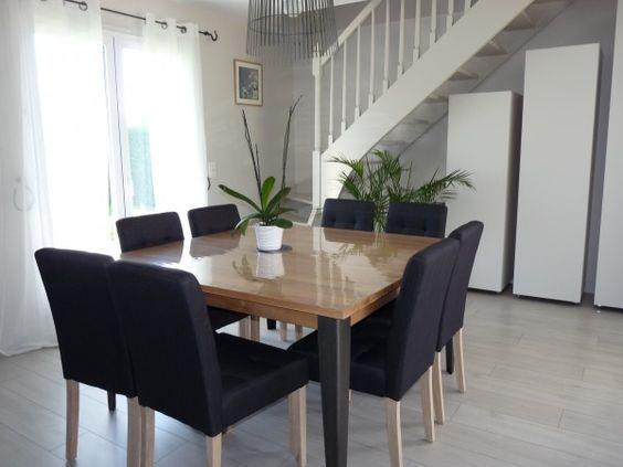 Avant apr s un salon salle manger de 52 m2 refait for Table salle manger moderne ikea