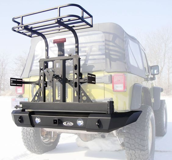 LoD Offroad XPD3021-C 1976-1986 Jeep CJ Xpedition Series Bumper/Tire Carrier w/ Trail Rack & Jerry Can Mounts   Autoplicity