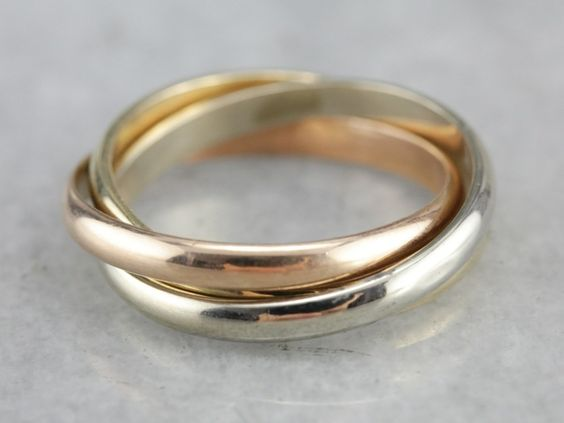 Sterling Silver 3 Band THICK Rolling Ring RR2