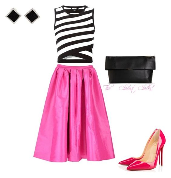 """""""Untitled #351"""" by thechicestchick ❤ liked on Polyvore featuring DKNY, Christian Louboutin, Victoria Beckham and Yvel"""
