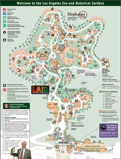 Map of the Los Angeles Zoo  LA Zoo  Pinterest  Zoos and