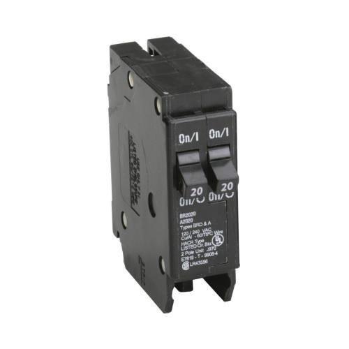 Eaton Br2020 Plug On Mount Type Br Duplex Circuit Breaker 1 Pole 2 20 Amp 120 Volt Ac Electrical Supplies Eaton Electrical Breakers