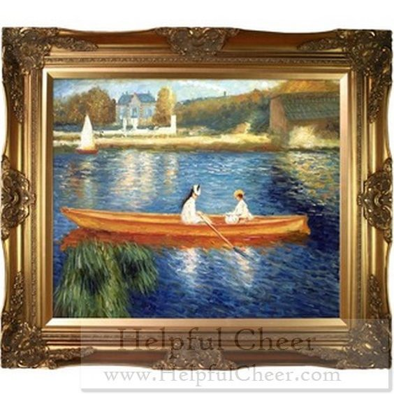 Renoir x27 Boating on the Seine x27 Canvas Art - at - 0153 - Your Online