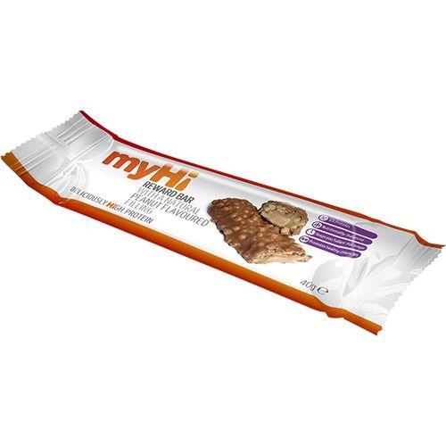 myHi Peanut Flavour Reward Bar. High Protein Bar