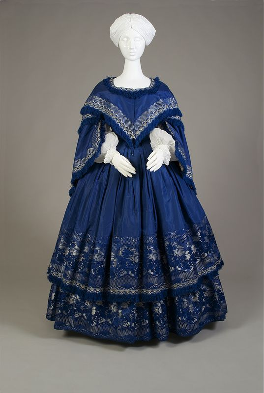 Historical Dress • Silk dress, ca. 1858 by KSU Museum  	 Via...