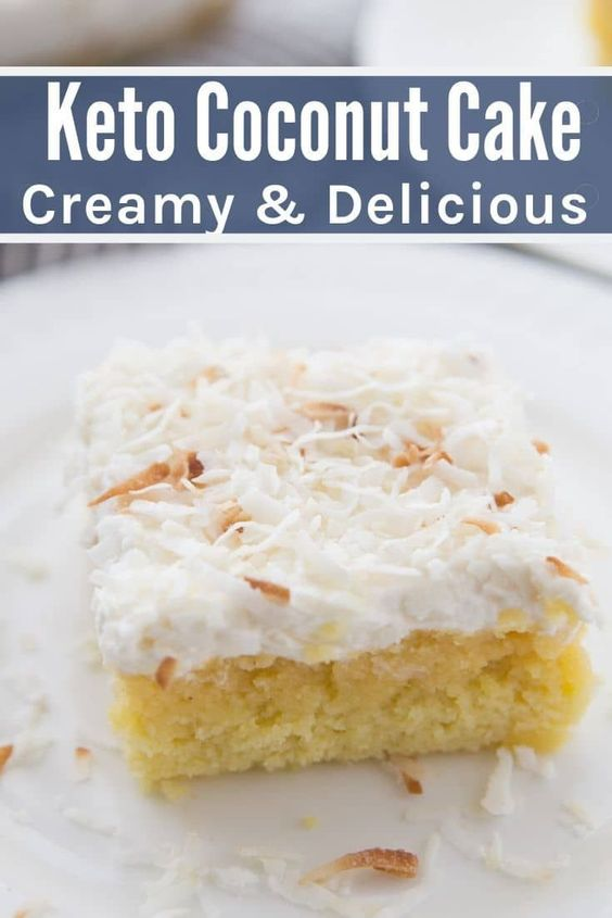 The Best Keto Coconut Cake