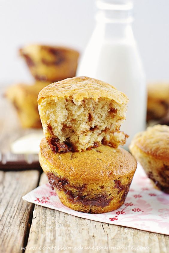 Muffins aux pépites de chocolat et noisettes sans oeufs - Confessions d'une gourmande