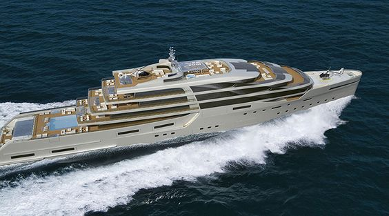 Impossible Productions Ink Meter Yacht For Globe Regal - Giga yacht takes luxury oil tanker sized extreme