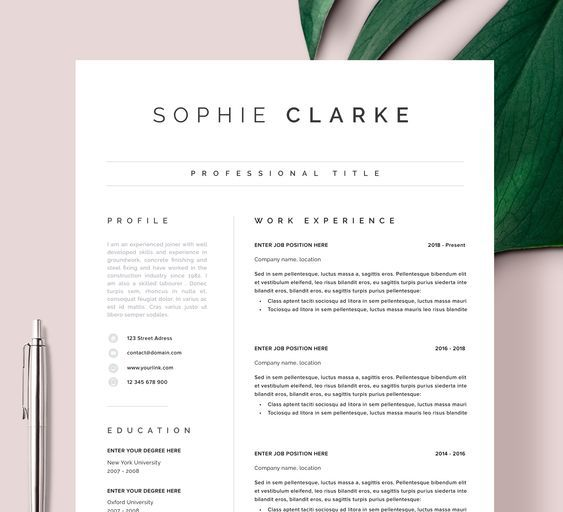 Resume Template Professional Resume Ms Word Resume Modern Etsy In 2021 Resume Template Professional Cv Template Cv Template Word