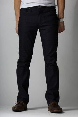 {Vantage Point} Driven Slim-Straight Jeans in Delta Blue $20