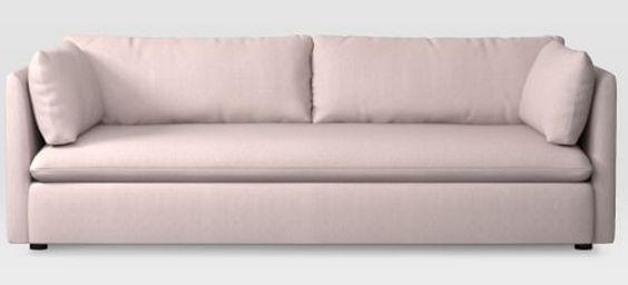Dusty blush sofa