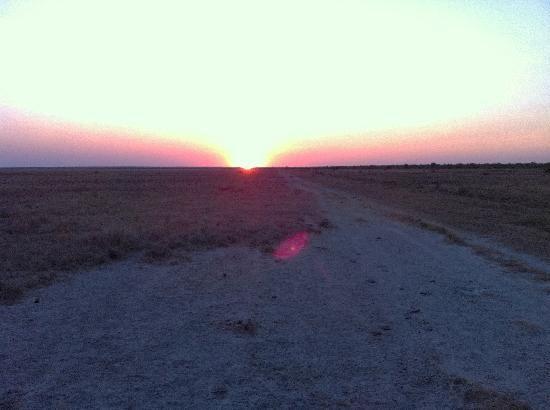 Sunset ovr the white clay Roebuck Plains
