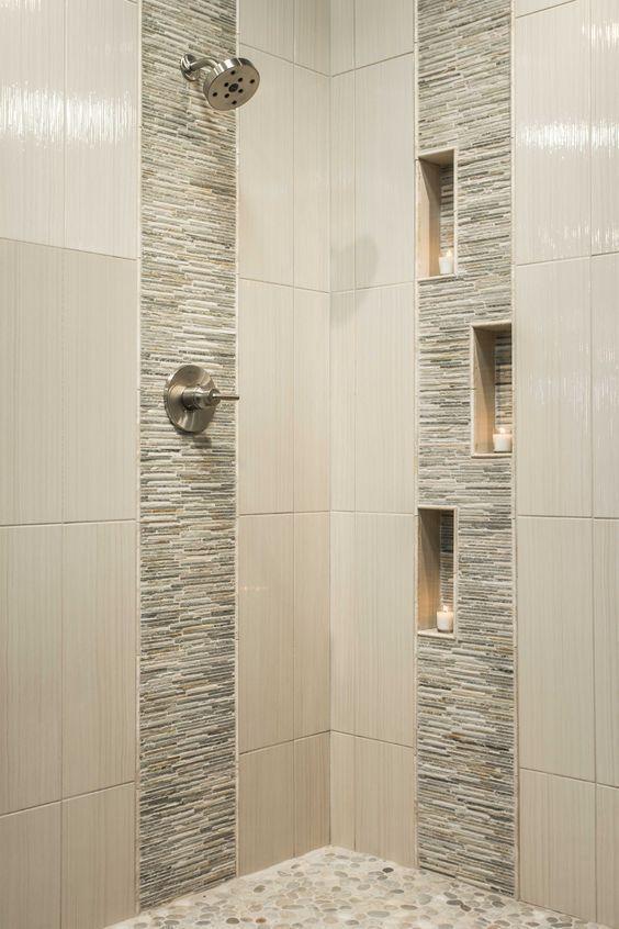 31 Bathroom Tile Ideas Make It Fresh And Not Boring Bathroom Remodel Shower Modern Shower Design Patterned Bathroom Tiles
