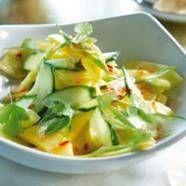 Exotische Salade Met Komkommer, Ananas En Mango recept | Smulweb.nl