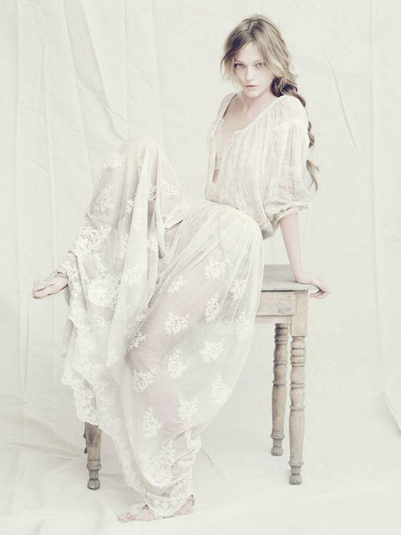 The white Sasha Pivovarova by Paolo Roversi