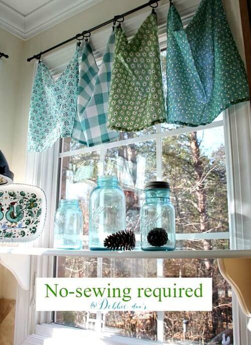 6 Frugal Unique Window Treatments Cozy Little House Kitchen Coverings Curtains Diy