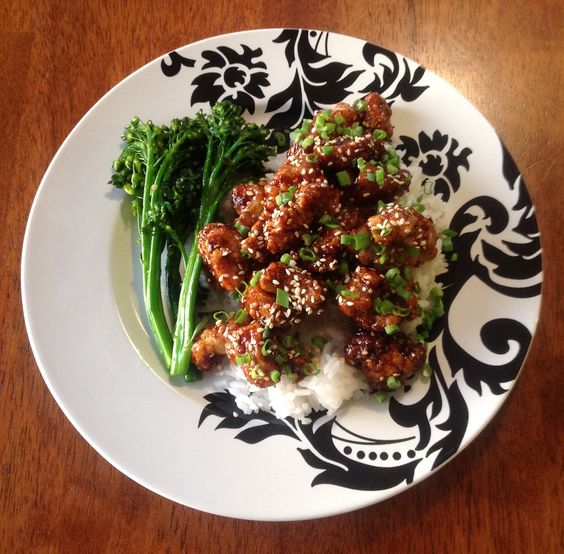 Sesame Chicken with Sautéed Rapini!
