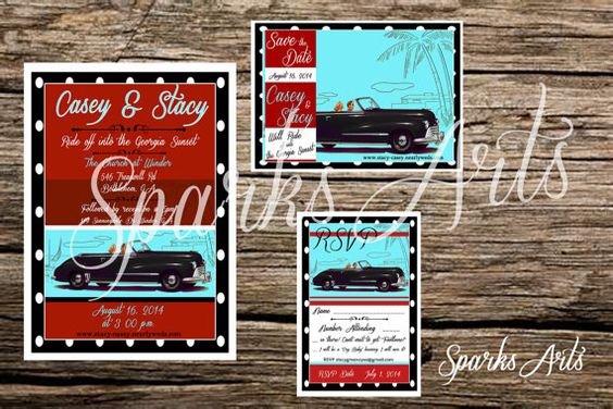 Hey, I found this really awesome Etsy listing at https://www.etsy.com/listing/183407136/1950-retro-save-the-date-wedding-vintage