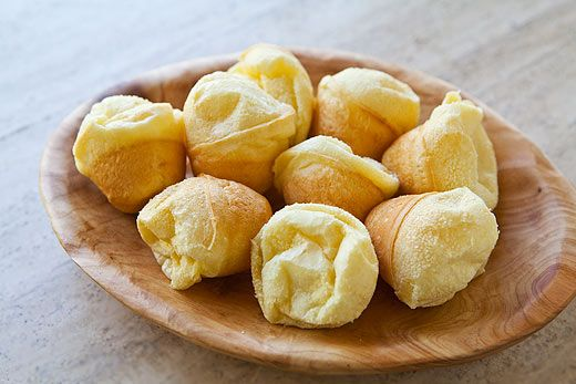 Brazilian cheese bread. Soft and chewy inside with slightly crisp outside!