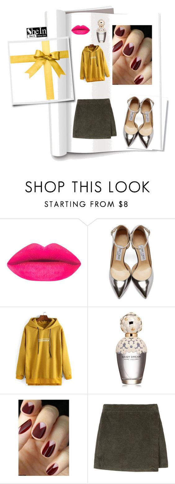 """""""bordeaux"""" by yykit ❤ liked on Polyvore featuring Jimmy Choo and Marc Jacobs"""