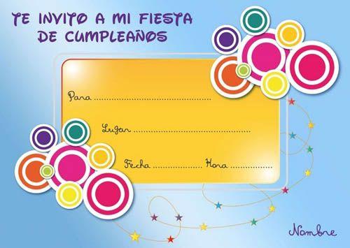Tarjetas De Cumpleaños Invitaciones De Cumpleaños Para