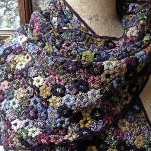 hand crocheted SOPHIE DIGARD SCARF: