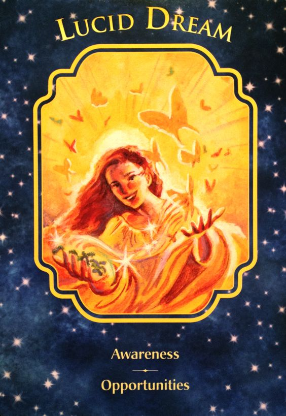 Daily Angel Oracle Card Celebration From The Guardian: Daily Angel Oracle Card: Lucid Dream, From The Angel