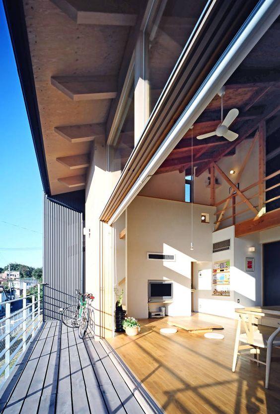 Busca imágenes de diseños de Terrazas estilo Moderno de 久保田英之建築研究所. Encuentra…