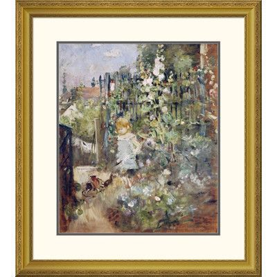 Global Gallery 'A Child In the Rosebeds' by Berthe Morisot Framed Painting Print Size: