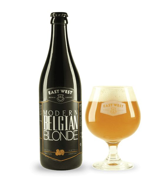 Bia East West Modern Belgian Blonde 7,6% - Chai 500ml