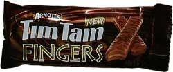 Arnotts Tim Tam Fingers - just bite off each end and Tim Tam Slam!
