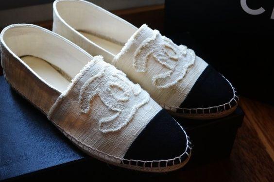 Chanel espadrilles , so comfy