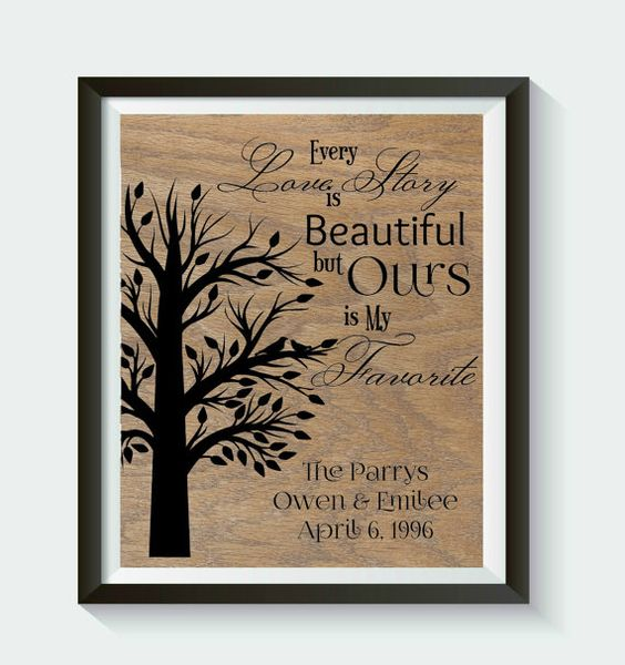 Check out this item in my Etsy shop https://www.etsy.com/listing/228785737/personalized-wedding-or-anniversary-day