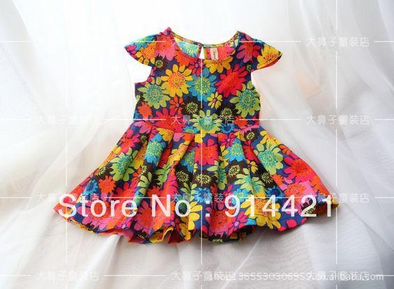 2013 fashion children's clothing,gilr's lovely brand  floral dress,kids 100% cotton dress $19.80