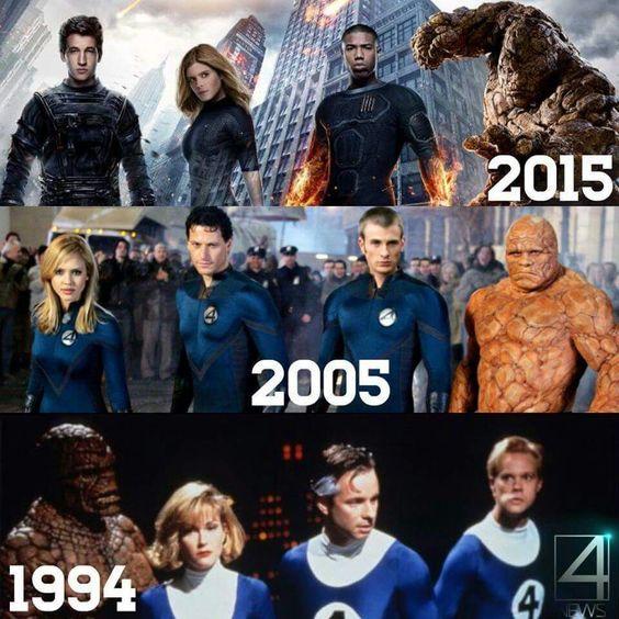 Fantastic four 1994 2005 2015