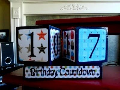 Countdown Blocks. These actually come in kits, but great idea. Countdown to Christmas, Halloween, birthday, and more!