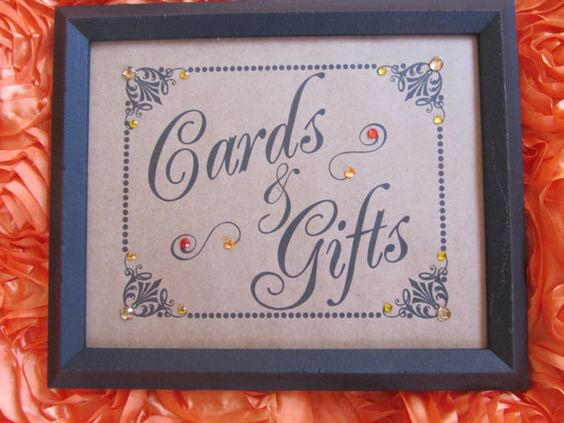 Cards and Gifts Sign Wedding Sign Wedding by BrownBeaverBeadery