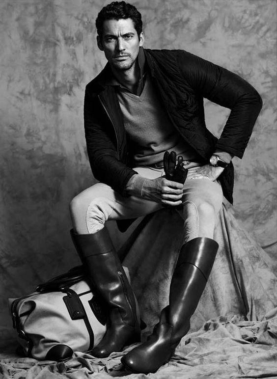 Model: David Gandy | Photographer: Hunter Gatti | (Massimo Dutti Equestrian Campaign)
