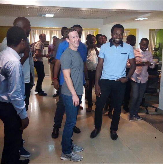 Laurry Jones : Mark Zukerberg, Facebook Founder Is In Nigeria