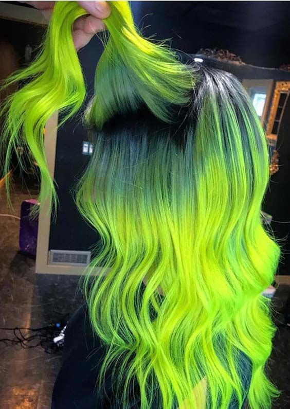 40 Crazy Neon Hair Color Ideas For Bold Women 2018 With Images