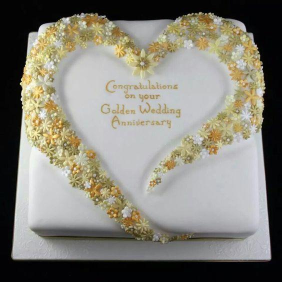 Golden Wedding Anniversary Cake Cakes Pinterest