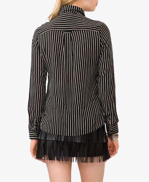 Vertical Striped Shirt   FOREVER21 - 2019572789