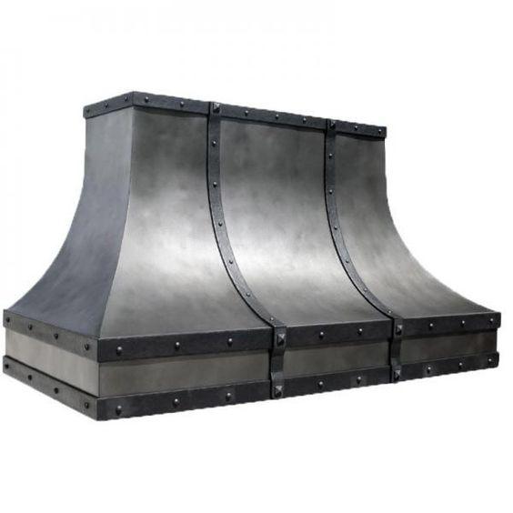Distressed Rustic Steel Range Hood #3298
