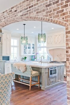 Kitchen has creativity and uniqueness with a touch of color
