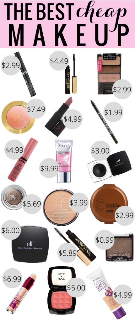 The Best Cheap Makeup - give yourself a total beauty wardrobe with products under $10!
