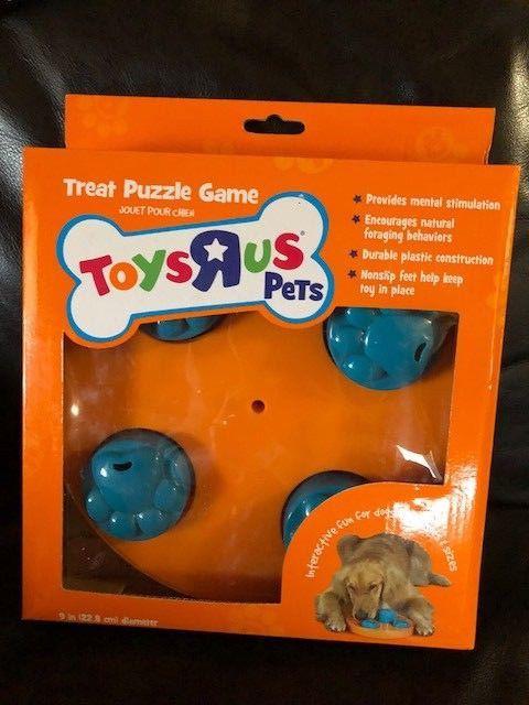 Toys R Us Pets Treat Puzzle Game Orange Blue 737257431010 Ebay Dog Treat Puzzles Toys Pets
