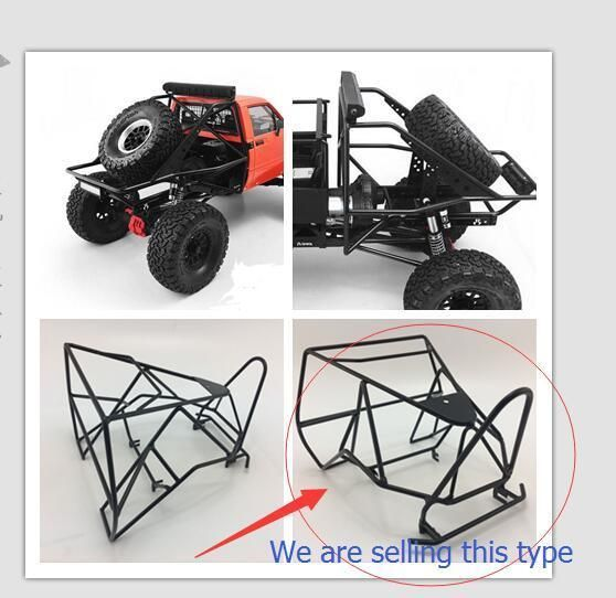 Metal Bucket Roll Cage W Spare Rack For Axial Ax80046 Scx10 Ax90022 Crawler Rc Kfmmm Coches Rc Coches Y Motocicletas Vehiculos