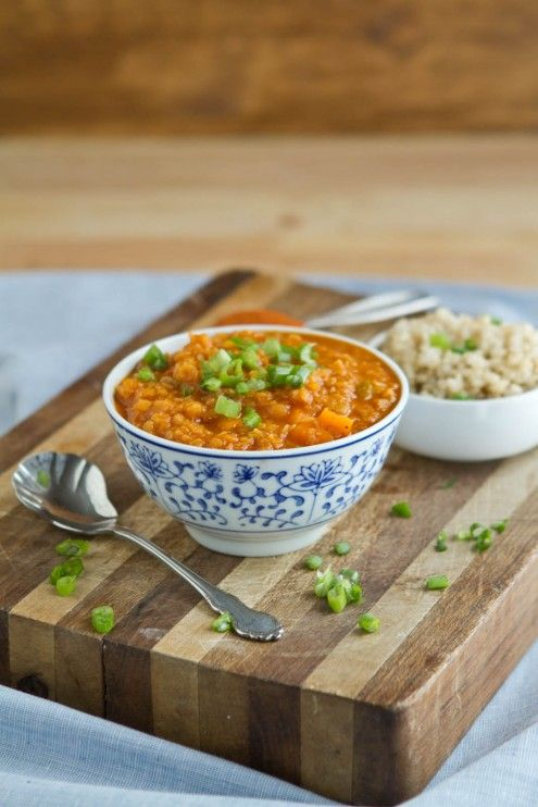 Coconut Curry Red Lentil Soup. NaturallyElla.com. Check out her yummy ...