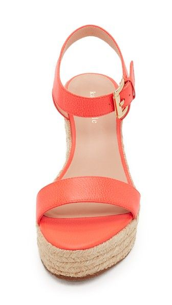 orange leather platform wedges