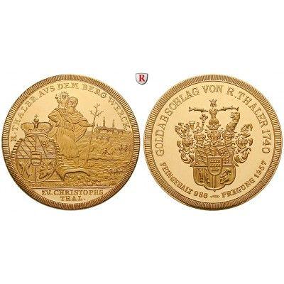 Ausbeute, Württemberg, Goldmedaille 1957, PP: CHRISTOPHSTAL, Goldmedaille 1957. Der heilige Christophorus mit dem Jesuskind watet… #coins